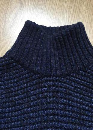 Шикарный темно-синий свитер из итальянской шерсти massimo dutti4