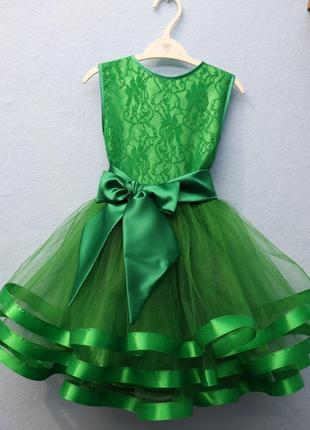 Платье нарядное зеленое