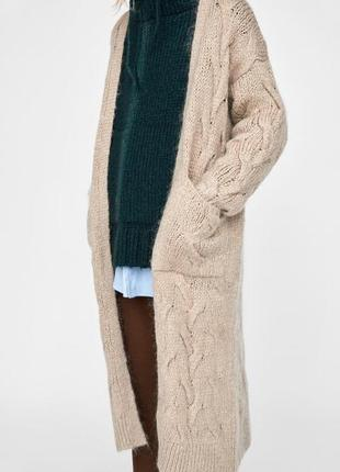 Новое вязаное пальто кардиган zara,  на p.s-м