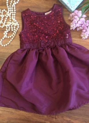 Нарядное праздничное платье ,сарафан для маленькой леди blue zoo 2-3 года.