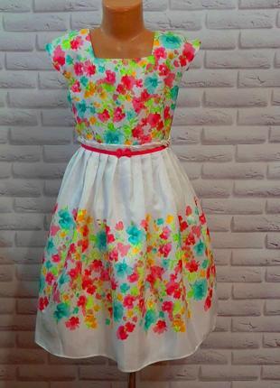 Нарядное нежное  платье на 8лет