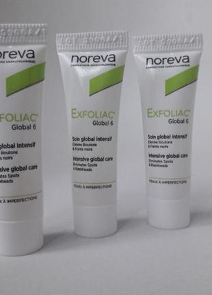 Крем для лица noreva laboratoires exfoliac global 6 уход для проблемной кожей