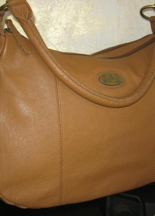 Rowallan оригинал большая легкая кожаная сумка на два отделения натуральная кожа в идеале