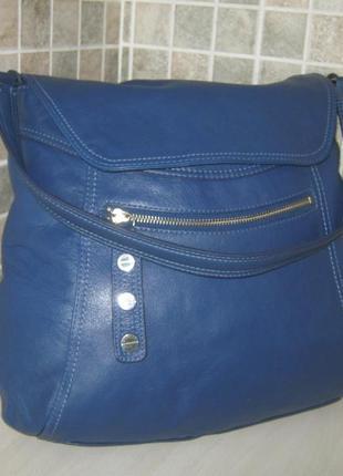 Marks & spencer portfolio оригинал большая легкая кожаная сумка натуральная кожа