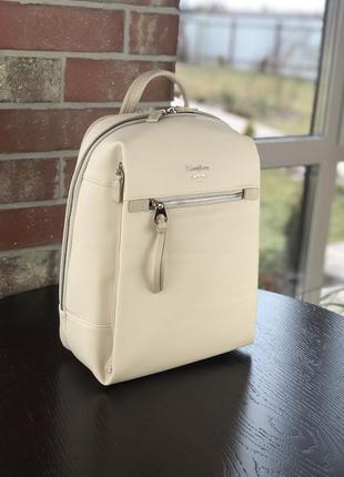 Стильный женский рюкзак david jones бежевый