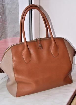 """""""furla"""" оригинал,большая сумка натуральная кожа,размер 32/48"""