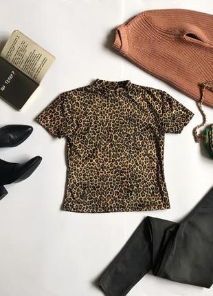 Стильная футболка в леопардовый принт wallis. р-р 12/40