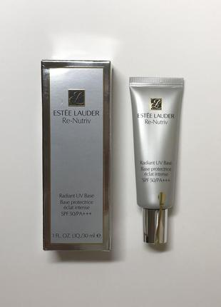 Праймер/защитная uv база для лица под макияж estée lauder re-nutrive spf 50, 30 ml.