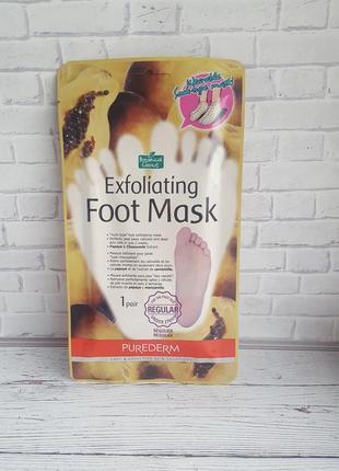 Носочки-пилинг для педикюра purederm exfoliating foot mask корейская косметика