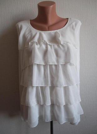Sale - 50%! воздушная нарядная блуза с воланами h&m