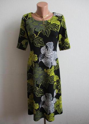 Sale - 50%! платье из фактурного трикотажа в цветочный принт next