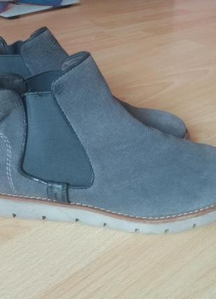Ботинки замшевые челси 40р