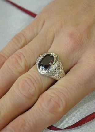 Мужское кольцо необычное из серебра
