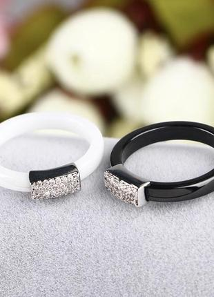 Шикарное керамическое кольцо