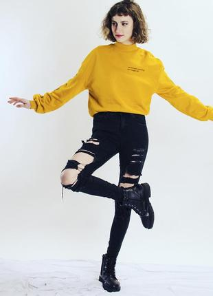 Черные джины скинни рваные, рваные джинсы в обтяжку, джинсы skinny, женские джинсы