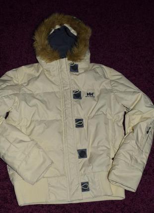 Крутая куртка пуховик утинный норвежского бренда helly hansen