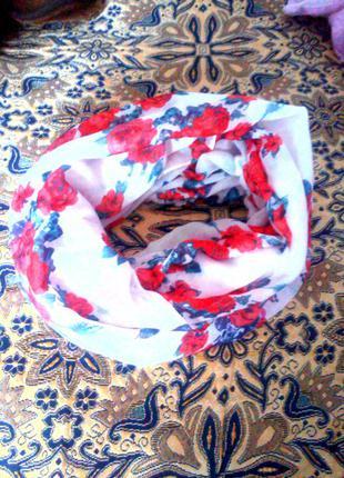 """Жіночий шарф """"троянда"""" (круговий)"""