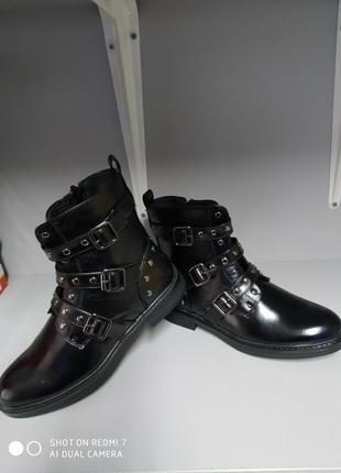 Детские ботинки девочке р.34 сказка 6032 черный