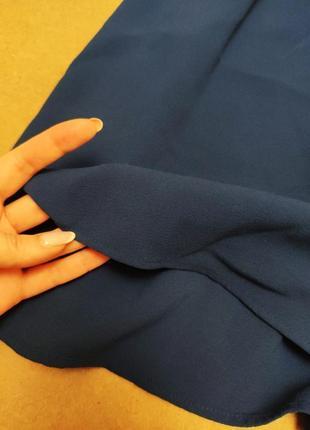H&m платье рубашка синее на пуговицах шифоновое свободная юбка4 фото
