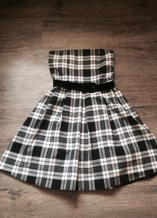 Платье в клеточку zara
