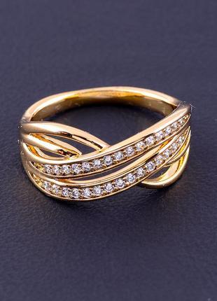 Кольцо 'xuping' фианит (позолота 18к) 0887980