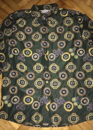 Einhorn шелковая блуза в принт! р.-42