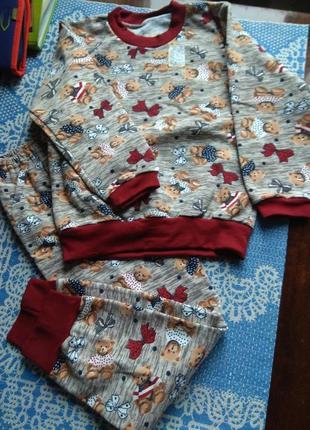 Тепла піжамка для дівчинки