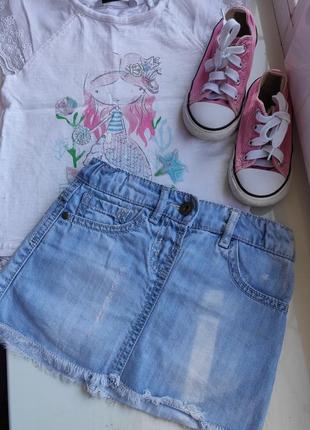 Набор- джинсовая юбка и футболка