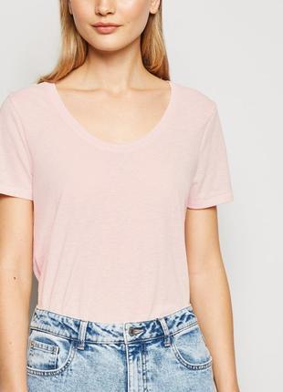 New look.товар из англии.футболка в расцветке пастельно-розового марла.
