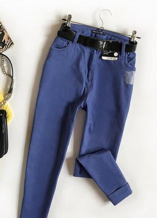Базовые джинсы прямого кроя с высокой посадкой bm collection