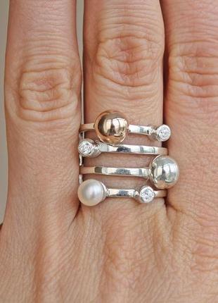 Серебряное кольцо боа р.18,5-19