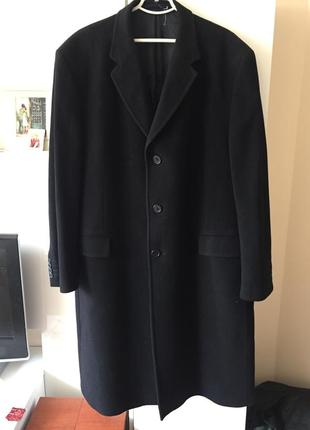 Мужское элегантное пальто шерсть с кашемиром,размер-56