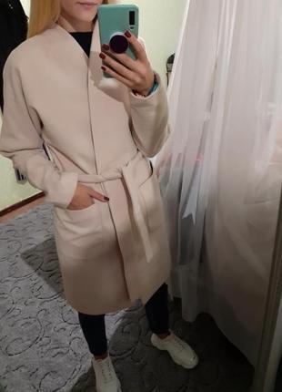 Шикарное шерстяное пальто на запах