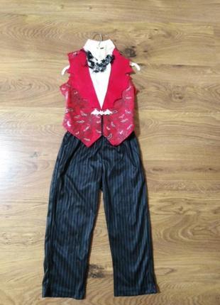 Карнавальный костюм на хеллоуин вампир, летучая мышь, дракула