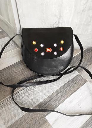 Красивая нарядная сумочка picard. кожа и замша