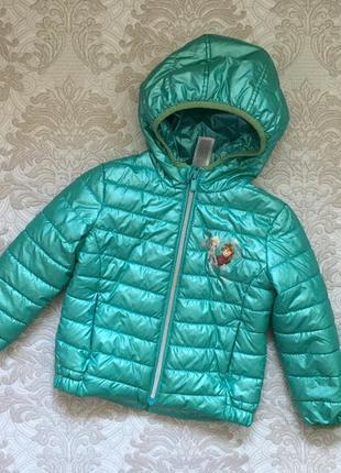 Куртка демисезон на 2г c&a frozen эльза и анна . куртка для дівчинки c&a