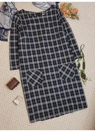 Платье в клетку tu/платье с карманами/трикотаж