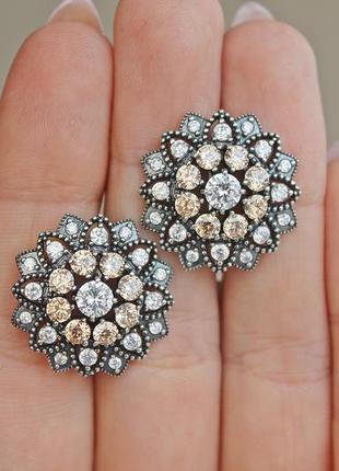 Серебряные серьги анабель