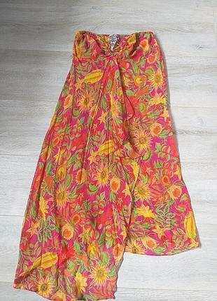 Шёлковое парео сарафан платье бюстье