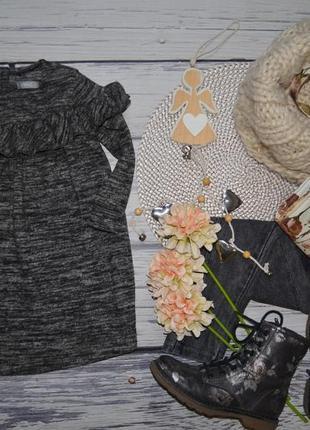 1 - 2 года 92 см очень модное стильное и теплое платье с баской next некст