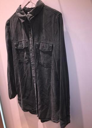 Рубашка хаки блузка с карманами блуза