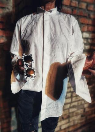 Фрачная рубашка под запонки armando мужская