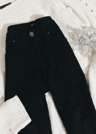 Штаны h&m средняя посадка прямые джинсы