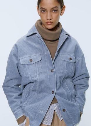 Zara вельветовый пиджак (куртка), р. s