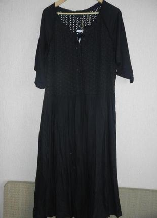 Шикарное стильное  новое натуральное платье большой размер