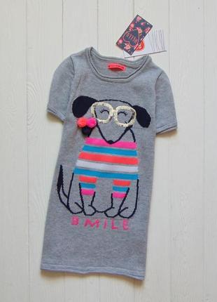 Cool club. размер 4 года. новое стильное трикотажное платье для девочки