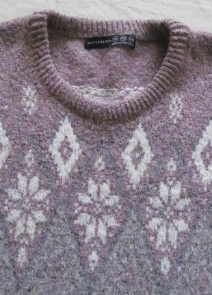 Теплый свитер-пуловер  длинная крфта4