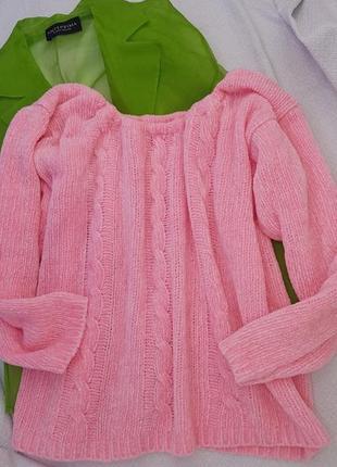 Бархатный укороченый свитерок оверсайз