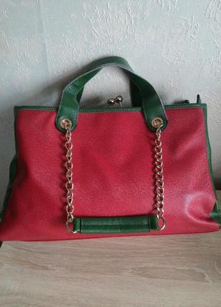 Обьемная двухцветная сумка giuliano