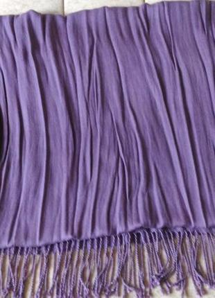 Кашемировый шарф фиолетового цвета2 фото